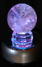 Crystal balls on our rotating rainbow LED light features stunning by day or night