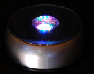 Rotating LED rainbow light bases can be purchased separately to light up your own Crystals
